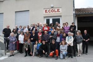 Participants au repas des anciens de Cobonne