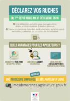 Affiche déclaration ruches 2016