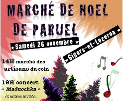 Marché de Noël à Paruel (Gigors), samedi dès 14h