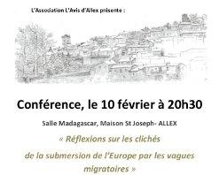 Conférence : Réflexions sur les clichés de la submersion de l'Europe par les vagues migratoires